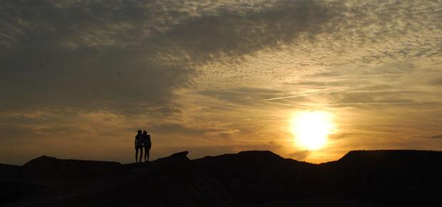 Puesta de sol en Las Bardenas