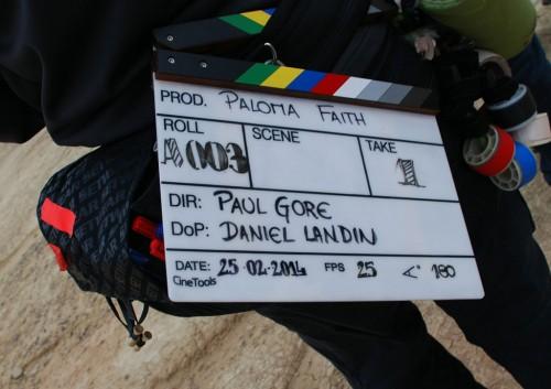 Silencio, se rueda un videoclip de Paloma Faith