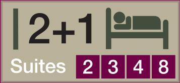 Suites 2 3 4 8 - 2+1